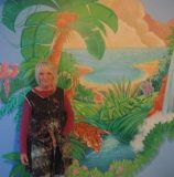Maureen and mural , what a joy to work with Irina