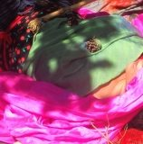 in the nest with colour & ritual objects.OLYMPUS DIGITAL CAMERA
